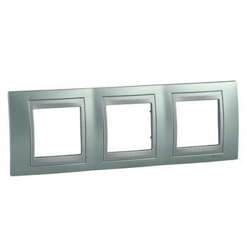 Rámček 3-násobný zelená mat.metal./hliník Unica Top (Schneider)