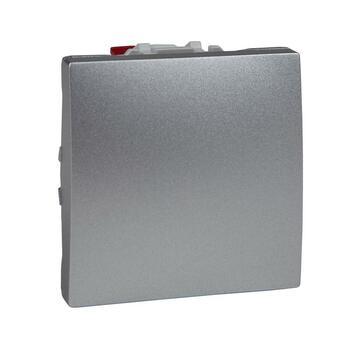 Prepínač striedavý (6) 10AX/250V 2M (PS) hliník Unica (Schneider)