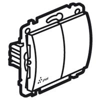 Prepínač dvojitý str. (5B) 10A/250V IP44 biela Galea Life (Legrand)
