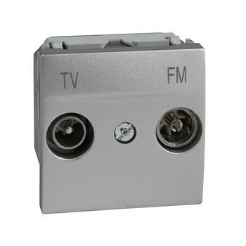 Zásuvka TV/R priebežná 2M hliník Unica (Schneider)