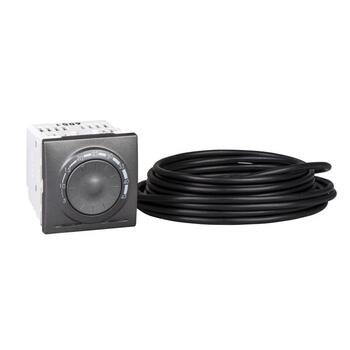 Termostat podlahový 10A/230V 2M otoč. (SS) snímač grafit Unica (Schneider)