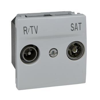 Zásuvka TV/R/SAT priebežná 2M biela polárna Unica (Schneider)