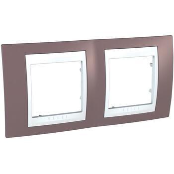 Rámček 2-násobný fialová svetlá/biela Unica Plus (Schneider)