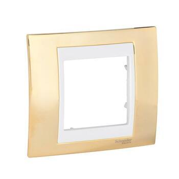 Rámček 1-násobný zlatá/slonovinová Unica Plus (Schneider)