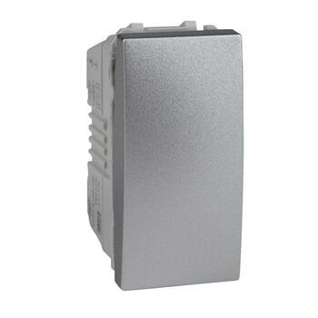 Tlačidlo (1/0) 10AX/250V 1M (PS) hliník Unica (Schneider)