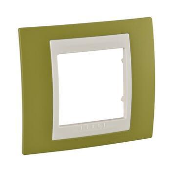 Rámček 1-násobný pistáciová/slonovinová Unica Plus (Schneider)