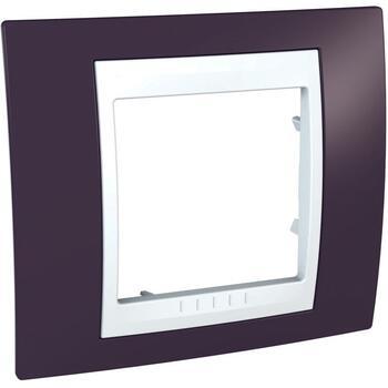 Rámček 1-násobný granátová/biela Unica Plus (Schneider)