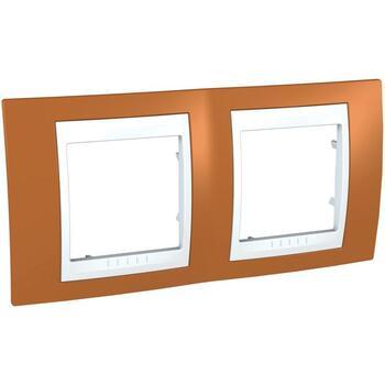 Rámček 2-násobný oranžová/biela Unica Plus (Schneider)
