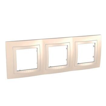 Rámček 3-násobný krémová/slonovinová Unica Basic (Schneider)