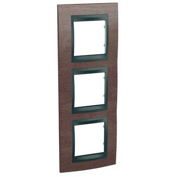 Rámček 3-násobný vert. tabak/grafit Unica Top (Schneider)