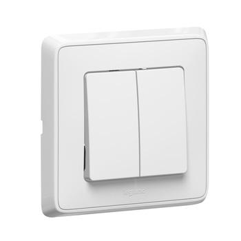 Prepínač sériový (5) 10A/250V (PS) biela Cariva (Legrand)
