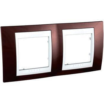Rámček 2-násobný terakotová/biela Unica Plus (Schneider)