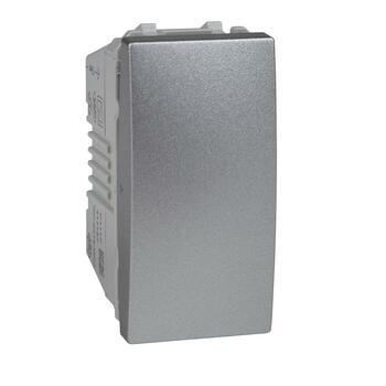 Spínač 1-pólový (1) 10AX/250V 1M (PS) hliník Unica (Schneider)