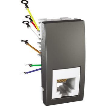 Zásuvka telefónna 1xRJ12 1M (SS) grafit Unica (Schneider)
