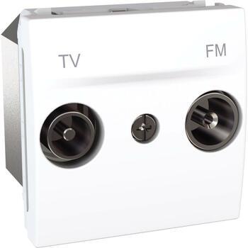 Zásuvka TV/R samostatná 2M biela polárna Unica (Schneider)