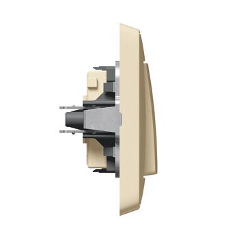Spínač 1-pólový (1) 10A/250V (PS) béžová Cariva (Legrand)