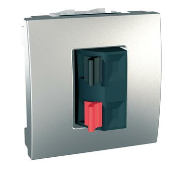 Zásuvka reproduktorová 1-násobná 2M (PS) hliník Unica (Schneider)