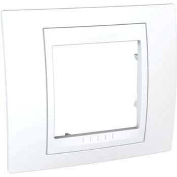 Rámček 1-násobný biela/biela Unica Plus (Schneider)