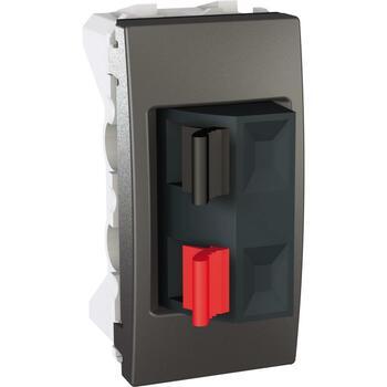 Zásuvka reproduktorová 1-násobná 1M (PS) grafit Unica (Schneider)