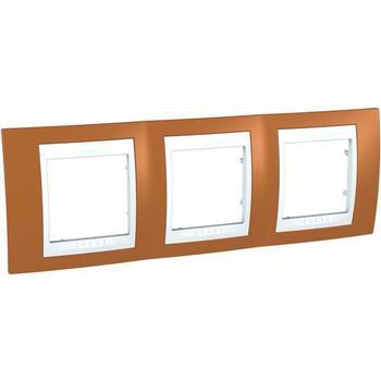 Rámček 3-násobný oranžová/biela Unica Plus (Schneider)