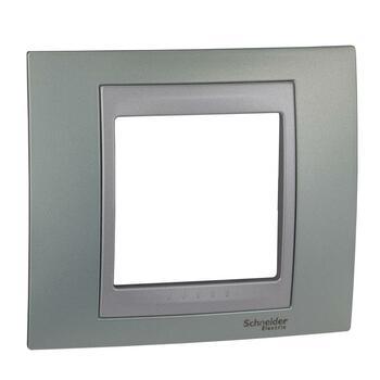 Rámček 1-násobný zelená mat.metal./hliník Unica Top (Schneider)