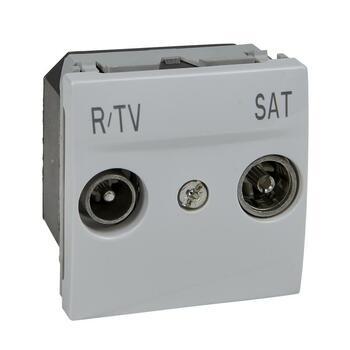 Zásuvka TV R/SAT samostatná 2M biela polárna Unica (Schneider)