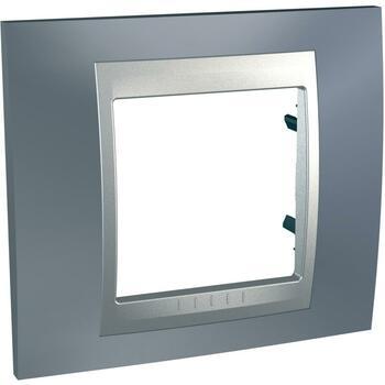Rámček 1-násobný sivá mat.metal./hliník Unica Top (Schneider)