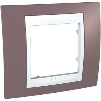 Rámček 1-násobný fialová svetlá/biela Unica Plus (Schneider)