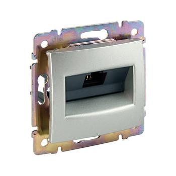 Zásuvka dátová 1xRJ45 Cat.6 FTP (LCS) hliník Valena (Legrand)