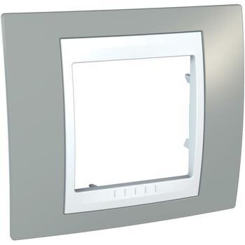 Rámček 1-násobný bledosivá/biela Unica Plus (Schneider)