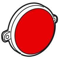 Difuzér pre svietidlo orientačné - červená Galea Life (Legrand)