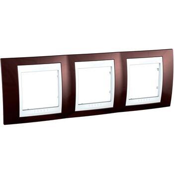 Rámček 3-násobný terakotová/biela Unica Plus (Schneider)