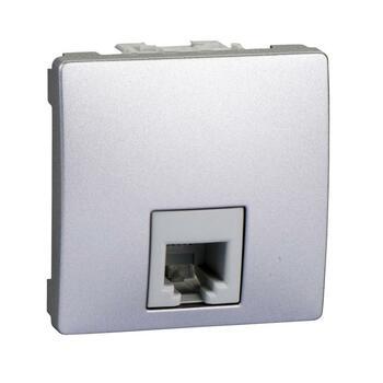 Zásuvka telefónna 1xRJ11 2M (SS) hliník Unica (Schneider)