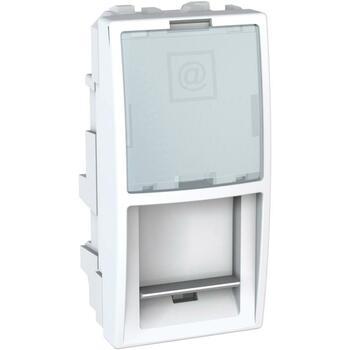 Kryt zásuvky dát. 1xRJ45 1M S-One InfraPlus biela polárna Unica (Schneider)