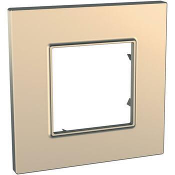 Rámček 1-násobný medená Unica Quadro Metallized (Schneider)