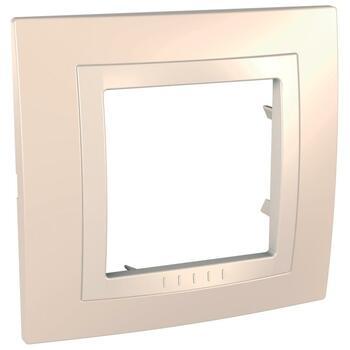 Rámček 1-násobný krémová/slonovinová Unica Basic (Schneider)
