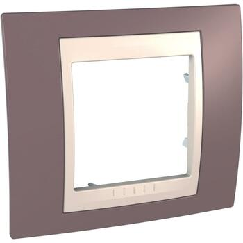 Rámček 1-násobný fialová svetlá/slonovinová Unica Plus (Schneider)