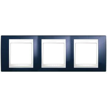Rámček 3-násobný indigovomodrá/biela Unica Plus (Schneider)