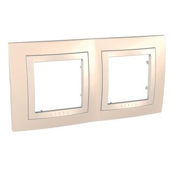 Rámček 2-násobný krémová/slonovinová Unica Basic (Schneider)