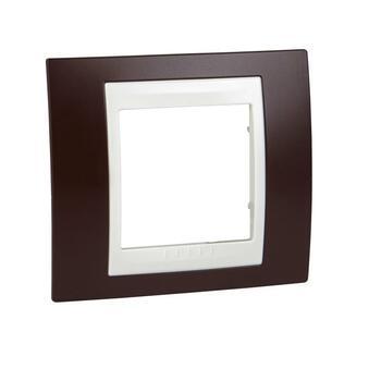 Rámček 1-násobný granátová/slonovinová Unica Plus (Schneider)