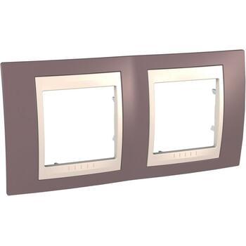 Rámček 2-násobný fialová svetlá/slonovinová Unica Plus (Schneider)