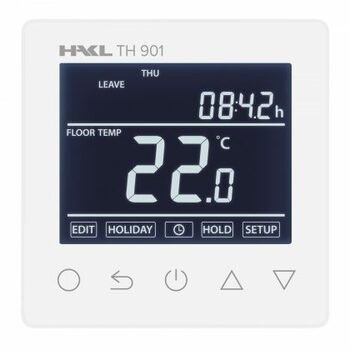 Dotykový termostat TH 901 s duálnym čidlom, biely (HAKL)