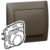 Termostat priestorový 8(4)A/230V 1NO+1NC otoč. - prístroj bronz Galea Life (Legrand)