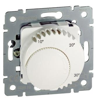 Termostat priestorový 8(4)A/230V 1NO+1NC otoč. - prístroj biela Galea Life (Legrand)