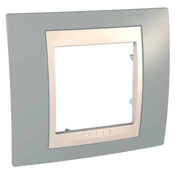 Rámček 1-násobný bledosivá/slonovinová Unica Plus (Schneider)
