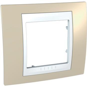 Rámček 1-násobný piesková/biela Unica Plus (Schneider)