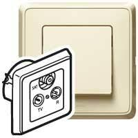 Zásuvka TV/R/SAT priebežná 1,5dB béžová Cariva (Legrand)