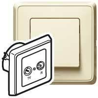 Zásuvka TV/R priebežná 1,5dB béžová Cariva (Legrand)