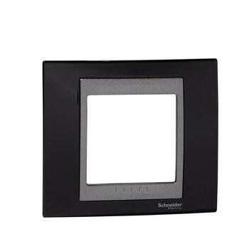 Rámček 1-násobný čierna lesklá/grafit Unica Top (Schneider)