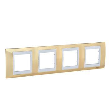 Rámček 4-násobný zlatá/biela Unica Plus (Schneider)